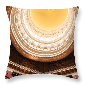 New Jersey Statehouse Dome Throw Pillow