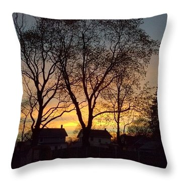 Sunset In Jersey Throw Pillow