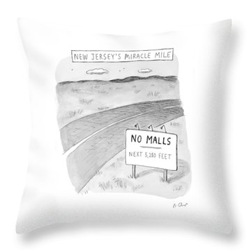 New Jersey's Miracle Mile Throw Pillow