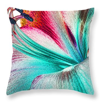 Throw Pillow featuring the digital art New Kid In Town by Margie Chapman