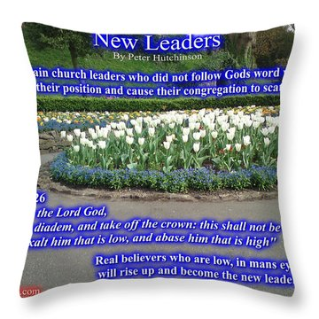 New Leaders Throw Pillow