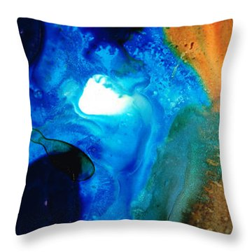 New Life - Abstract Landscape Art Throw Pillow by Sharon Cummings