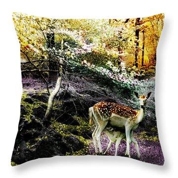 New Life In Fantasia Throw Pillow