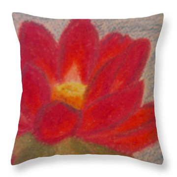 Throw Pillow featuring the pastel New Life by Thomasina Durkay