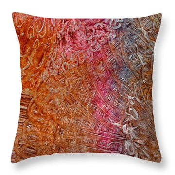 Throw Pillow featuring the mixed media New Light by Sami Tiainen