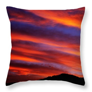 New Mexican Sunrise Throw Pillow by Susanne Still