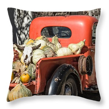New Mexico Fall Harvest Truck Throw Pillow