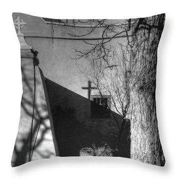 New Mexico Mission Throw Pillow