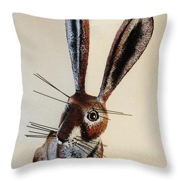 New Mexico Rabbit O Throw Pillow