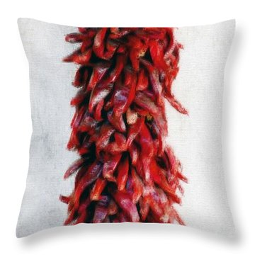 New Mexico Red Chili Art Throw Pillow