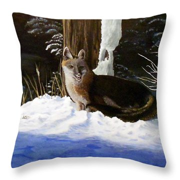 New Mexico Swift Fox Throw Pillow by Sheri Keith