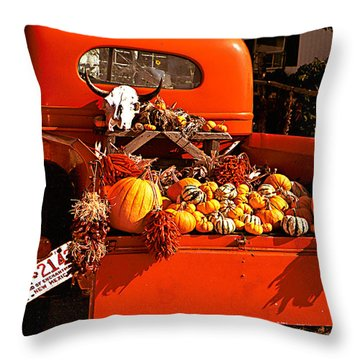 New Mexico Truck Throw Pillow