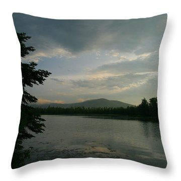 New Morning On Lake Umbagog  Throw Pillow by Neal Eslinger