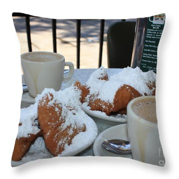New Orleans Breakfast Throw Pillow