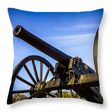 New Orleans Cannon At Washington Artillery Park Throw Pillow by Paul Velgos