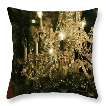 Throw Pillow featuring the photograph New Orleans Chandelier by Heather Green