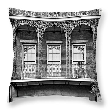 New Orleans - City Of Iron Lace Throw Pillow by Christine Till