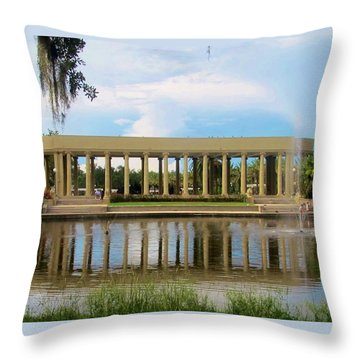 New Orleans City Park - Peristyle Throw Pillow