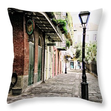 Throw Pillow featuring the photograph New Orleans Cobblestone by Heather Green