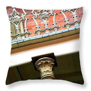 New Orleans Column Throw Pillow by Carol Groenen