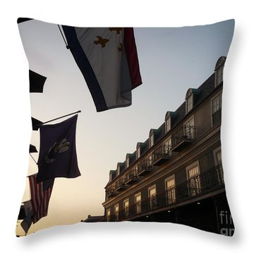 Evening In New Orleans Throw Pillow by Valerie Reeves