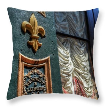 New Orleans Fleur-de-lis Throw Pillow by Timothy Lowry