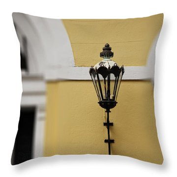 Throw Pillow featuring the photograph New Orleans Lantern by Heather Green