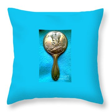 Throw Pillow featuring the photograph New Orleans Louisiana Usa Mardi Gras Favor Rex 1912 by Michael Hoard