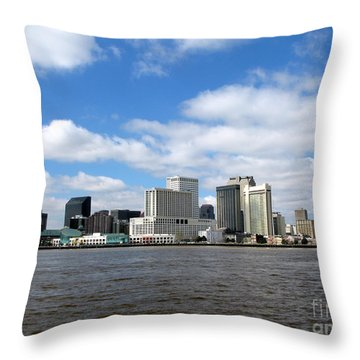New Orleans Throw Pillow by Olivier Le Queinec