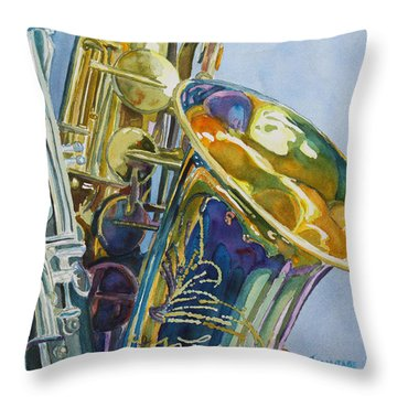 New Orleans Reeds Throw Pillow by Jenny Armitage
