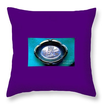 Throw Pillow featuring the photograph New Orleans Rex Mardi Gras Favor 1913 by Michael Hoard