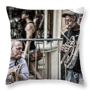 New Orleans Street Jam Throw Pillow