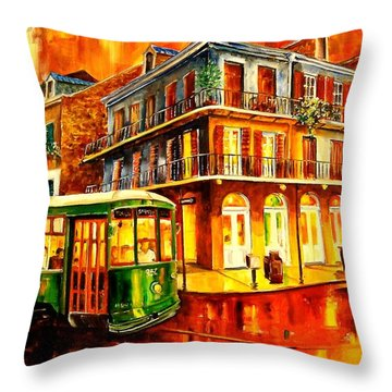 New Orleans Streetcar Throw Pillow by Diane Millsap