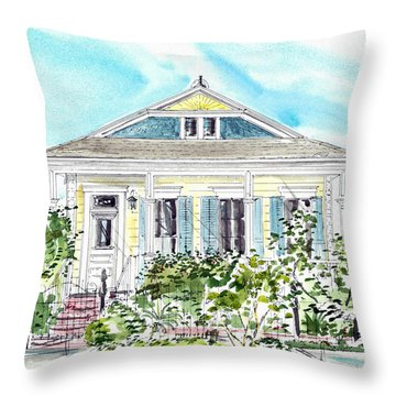 New Orleans Victorian Throw Pillow
