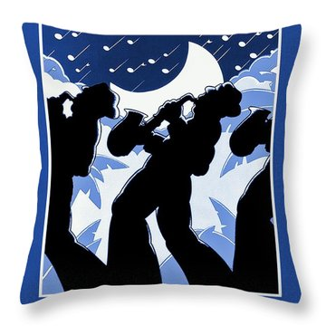 New Orleans Vintage Jazz And Heritage Festival 1980 Throw Pillow