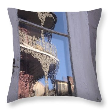 New Orleans Window Throw Pillow