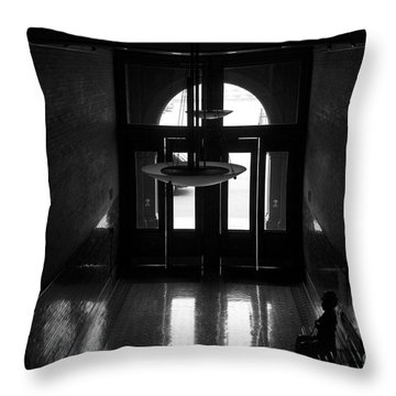 New Photographic Art Print For Sale Bradbury Building 12 Downtown La Throw Pillow by Toula Mavridou-Messer