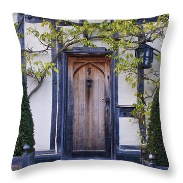 New Photographic Art Print For Sale Doorway 2 In Medieval Lavenham Throw Pillow