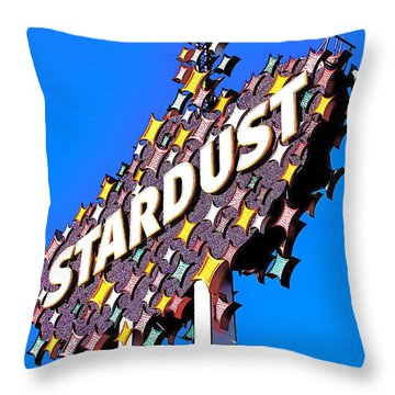 Original Stardust Casino Neon In Las Vegas Pop Art Throw Pillow