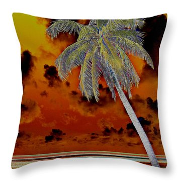 New Photographic Art Print For Sale Paradise Somewhere In The Bahamaramas Throw Pillow