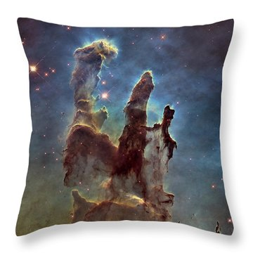New Pillars Of Creation Hd Square Throw Pillow