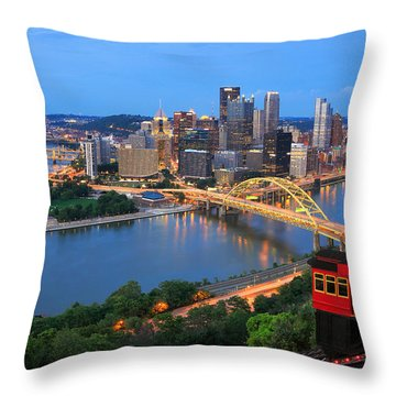 Pittsburgh Summer  Throw Pillow