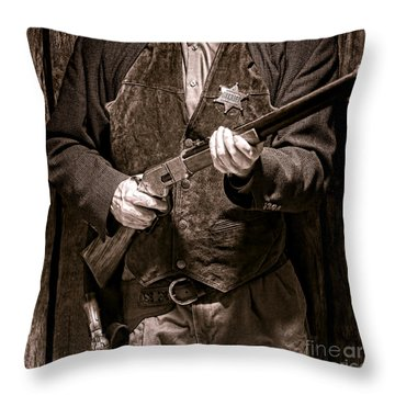 New Sheriff In Town  Throw Pillow by Olivier Le Queinec