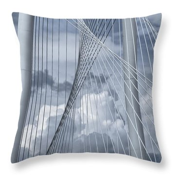 New Skyline Bridge Throw Pillow