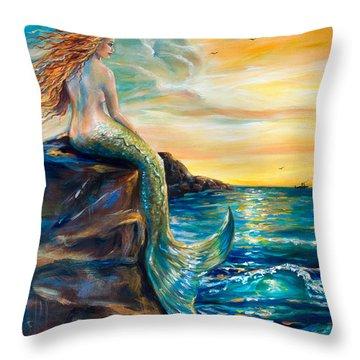 New Smyrna Inlet Throw Pillow