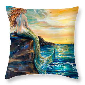 New Smyrna Inlet Throw Pillow