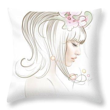 New Star Throw Pillow by Anna Ewa Miarczynska