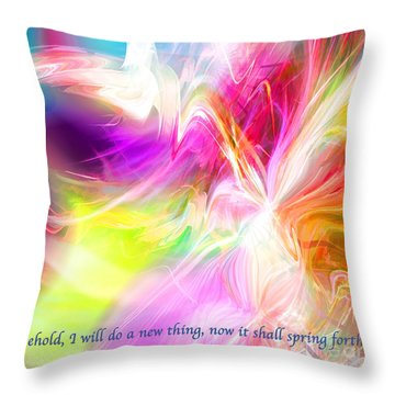 New Thing Throw Pillow by Margie Chapman