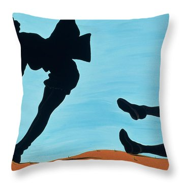 New Thrills For Peggy, 1998 Throw Pillow