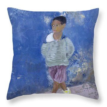 New Trainers Havana Cuba Throw Pillow by Kate Yates